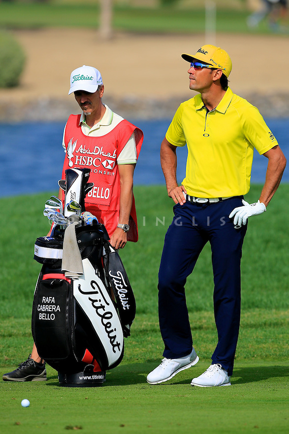 Rafa Cabrera Bello (ESP) during the final round of the Abu Dhabi HSBC Golf Championship played at Abu Dhabi Golf Club 19-22 January 2017.(Picture Credit / Phil Inglis)