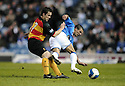 19/03/2008    Copyright Pic: James Stewart.File Name : sct_jspa19_rangers v partick.NACHO NOVO IS STOPPED BY SCOTT CHAPLAIN.James Stewart Photo Agency 19 Carronlea Drive, Falkirk. FK2 8DN      Vat Reg No. 607 6932 25.Studio      : +44 (0)1324 611191 .Mobile      : +44 (0)7721 416997.E-mail  :  jim@jspa.co.uk.If you require further information then contact Jim Stewart on any of the numbers above........