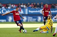Lillo (defender; CA Osasuna)during the Spanish <br /> la League soccer match between CA Osasuna and CD Lugo at Sadar stadium, in Pamplona, Spain, on Saturday, <br /> April 28, 2018.