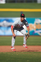 Scottsdale Scorpions Mitch Walding (31), of the Philadelphia Phillies organization, during a game against the Peoria Javelinas on October 22, 2016 at Peoria Stadium in Peoria, Arizona.  Peoria defeated Scottsdale 3-2.  (Mike Janes/Four Seam Images)