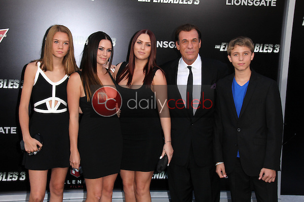 Robert Davi and family<br /> at &quot;The Expendables 3&quot; Los Angeles Premiere, TCL Chinese Theater, Hollywood, CA 08-11-14<br /> David Edwards/Dailyceleb.com 818-249-4998