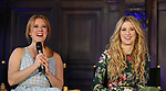 Patti Murin and Caissie Levy attends the press day for 'Frozen' The Broadway Musical on February 13, 2018 at the Highline Hotel in New York City.
