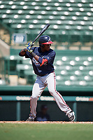 Atlanta Braves JC Encarnacion (45) at bat during an Instructional League game against the Baltimore Orioles on September 25, 2017 at Ed Smith Stadium in Sarasota, Florida.  (Mike Janes/Four Seam Images)
