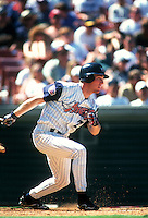 Darin Erstad of the Anaheim Angels during a game at Anaheim Stadium in Anaheim, California during the 1997 season.(Larry Goren/Four Seam Images)