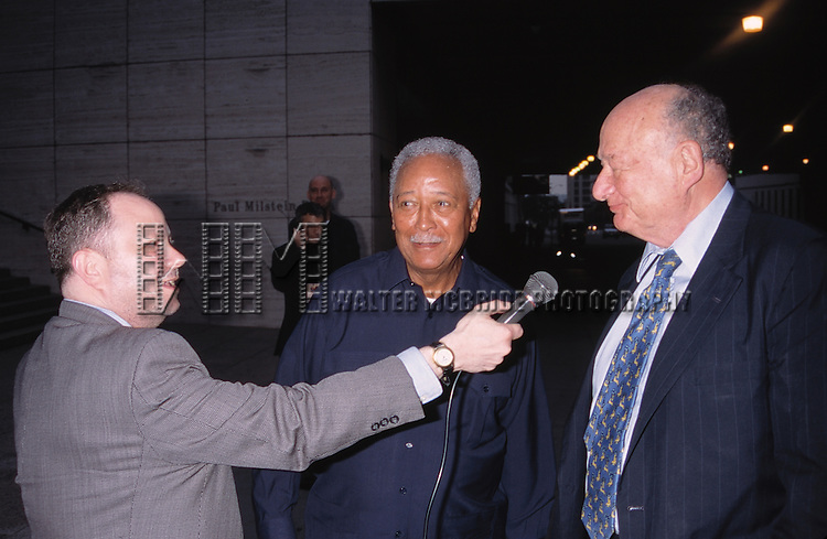 Mayor David Dinkins & Mayor Ed Koch attend the 'Sweet Charity' Concert Benefit at Lincoln center in New York City. 6/15/1998