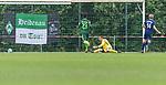 17.05.2018, Stadion am Auetal, Ahlerstedt, GER, FSP, Auswahl Ahlerstedt / Ottendorf vs SV Werder Bremen<br /> <br /> im Bild<br /> Carsten Dammann (SV Ahlerstedt/Ottendorf #14) mit Torschuss und Treffer zum 1:3 gegen Jaroslav Drobny (Werder Bremen #33), <br /> <br /> Foto &copy; nordphoto / Ewert