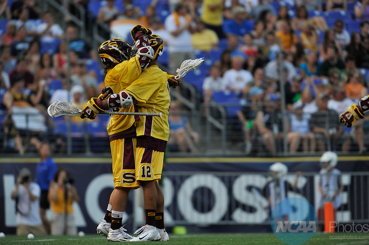 29 MAY 2011:  Salisbury University takes on Tufts University during the Division III Men's Lacrosse Championship held at M+T Bank Stadium in Baltimore, MD.  Salisbury defeated Tufts 19-7 for the national title. Larry French/NCAA Photos