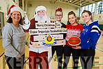 Helen Pierce, Aisling O'Mahoney, Niamh Myres and Aoife Dillane the Tralee Imperials Christmas Basketball Marathon in Mercy Mounthawk on Saturday.