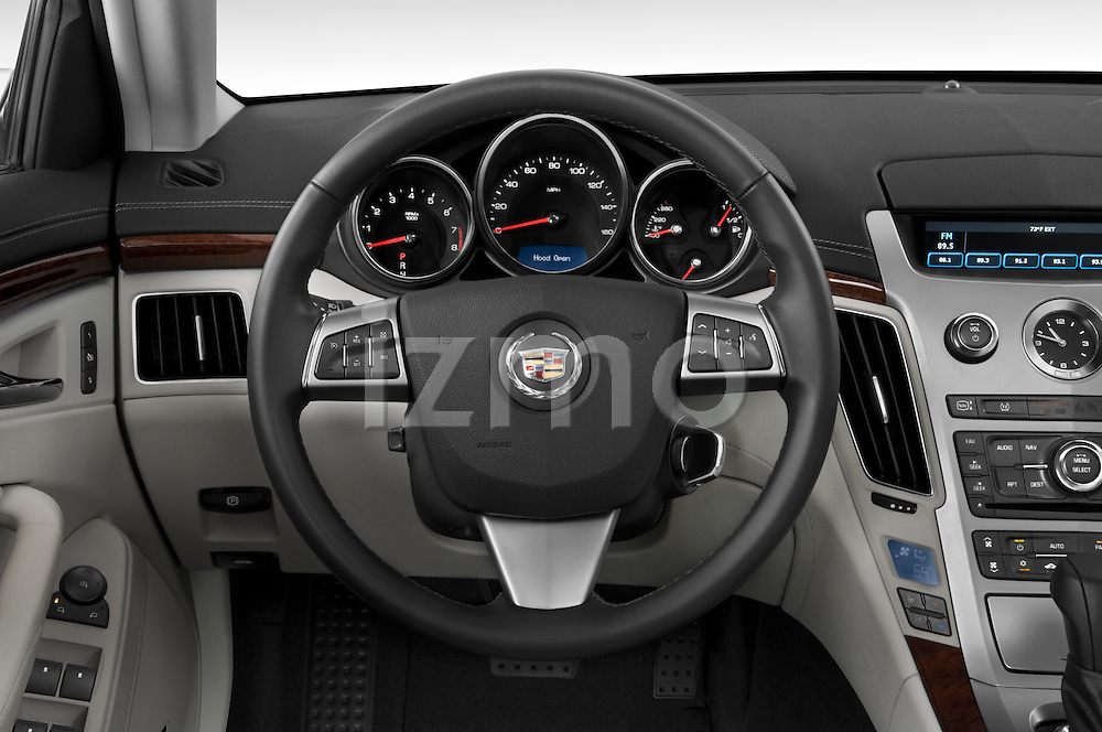 Steering wheel view of a 2008 Cadillac CTS sedan