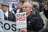 Stop HS2 demonstration outside Parliament on the day of the second reading of the HS2 Hybrid Bill.