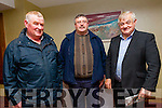 l-r  Niall Kieran, William Leen,  and Richard Hartnett, from Scartaglin and Castleisland at the IFA Scandal Meeting in Manor West Hotel on Monday
