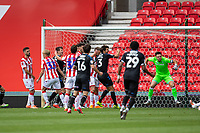 27th June 2020; Bet365 Stadium, Stoke, Staffordshire, England; English Championship Football, Stoke City versus Middlesbrough; Ashley Fletcher of Middlesbrough scores his goal for 0-1 in the 29th minute