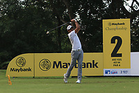 Jyoti Randhawa (IND) in action on the 2nd during Round 1 of the Maybank Championship at the Saujana Golf and Country Club in Kuala Lumpur on Thursday 1st February 2018.<br /> Picture:  Thos Caffrey / www.golffile.ie<br /> <br /> All photo usage must carry mandatory copyright credit (&copy; Golffile | Thos Caffrey)