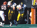 Pittsburgh Steelers Jerome Bettis (36) during a game against the Cincinnati Bengals at Cinergy Field in Cincinnati, Ohio on October 11, 1998.  The Bengals beat the Steelers  20-25. Jerome Bettis played for 13 years with 2 different team, was a 6-time Pro Bowler and was inducted into the Pro Football Hall of Fame in 2015.