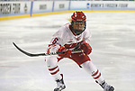 ST CHARLES, MO - MARCH 19:  Presley Norby (6) of the Wisconsin Badgers skates against the Clarkson Golden Knights during the Division I Women's Ice Hockey Championship held at The Family Arena on March 19, 2017 in St Charles, Missouri. Clarkson defeated Wisconsin 3-0 to win the national championship. (Photo by Mark Buckner/NCAA Photos via Getty Images)