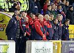 Rangers staff during the minutes silence for Ryan Baird