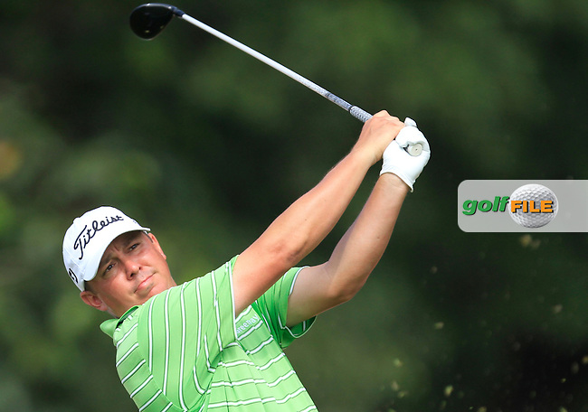 Jason Dufner (USA) on the 7th tee during Round 4 of the CIMB Classic in the Kuala Lumpur Golf &amp; Country Club on Sunday 2nd November 2014.<br /> Picture:  Thos Caffrey / www.golffile.ie