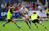 Max Clark of Bath Rugby takes on the Leinster defence. Pre-season friendly match, between Leinster Rugby and Bath Rugby on August 26, 2016 at Donnybrook Stadium in Dublin, Republic of Ireland. Photo by: Patrick Khachfe / Onside Images