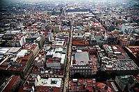 high angle view of the Historic Center of Mexico City. Madero Street, Calle Madero(Photo: Luis Gutierrez / NortePhoto.com)<br /> vista de angulo alto del centro Historico de la Ciudad de Mexico. (Foto: Luis Gutierrez / NortePhoto.com)