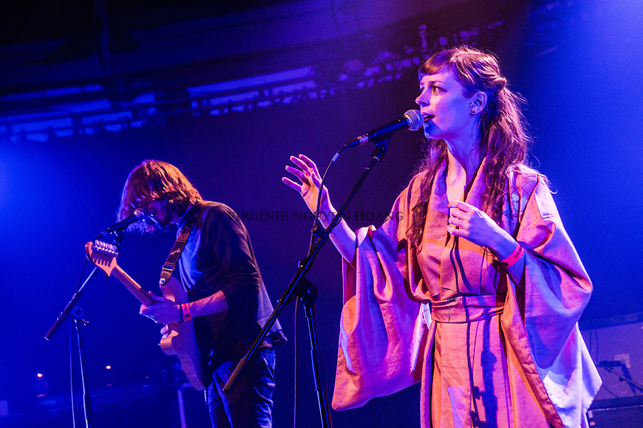 Brussels, Belgium: The Belgian group Leonore is performing at the Botanique for the Belgian music festival Propulse, February 2018.