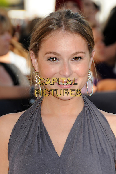 "ALEXA VEGA .""The Twilight Saga: Eclipse"" Los Angeles Premiere at the 2010 Los Angeles Film Festival held at Nokia Theatre LA Live, Los Angeles, California, USA, 24th June 2010..portrait headshot grey gray halterneck hair up earrings .CAP/ADM/BP.©Byron Purvis/AdMedia/Capital Pictures."