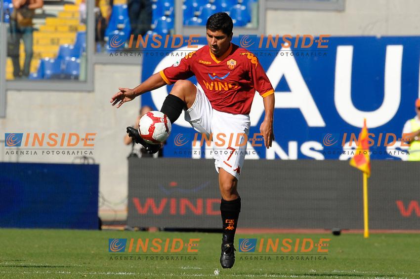 David PIZARRO Roma<br /> Roma 4/10/2009 Stadio &quot;Olimpico&quot;<br /> Campionato Italiano Serie A 2009/2010<br /> Roma Napoli 2-0<br /> Photo Andrea Staccioli Insidefoto