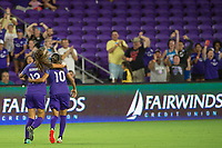 Orlando, FL - Tuesday August 08, 2017: Alex Morgan, Marta Vieira Da Silva during a regular season National Women's Soccer League (NWSL) match between the Orlando Pride and the Chicago Red Stars at Orlando City Stadium.