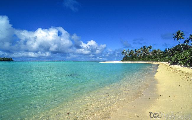 Remote beach on Huahini, French Polynesia
