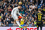 Cristiano Ronaldo of Real Madrid in action  during the match of Spanish La Liga between Real Madrid and UD Las Palmas at  Santiago Bernabeu Stadium in Madrid, Spain. March 01, 2017. (ALTERPHOTOS / Rodrigo Jimenez)