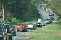 The John Warner Parkway backed up with traffic. Photo/Andrew Shurtleff Photography, LLC
