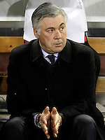 Paris Saint-Germain's coach Carlos Ancelotti during Champions League 2012/2013 match.February 12,2013. (ALTERPHOTOS/Acero) /NortePhoto
