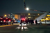 Members of United States President elect Donald J. Trump's staff arrive at LaGuardia airport in Queens, New York, U.S. following an event in Wisconsin on Tuesday, December 13, 2016. <br /> Credit: John Taggart / Pool via CNP
