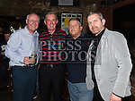 Gerry Kelly interviews Pete Mahon, John Gill and Mark Kinsella at the Drogheda United meet and greet night in Mother Hughes's. Photo:Colin Bell/pressphotos.ie