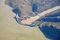 4415 / Wasserkraft: AFRIKA, SUEDAFRIKA, 01.01.2007:Staumauer des Gariepdam, Wasserkraft am Orange River, Stromerzeugung, Wasserversorgung