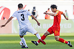 Hao Junmin of China (R) competes for the ball with Tamirlan Kozubaev of Kyrgyz Republic during the AFC Asian Cup UAE 2019 Group C match between China (CHN) and Kyrgyz Republic (KGZ) at Khalifa Bin Zayed Stadium on 07 January 2019 in Al Ain, United Arab Emirates. Photo by Marcio Rodrigo Machado / Power Sport Images