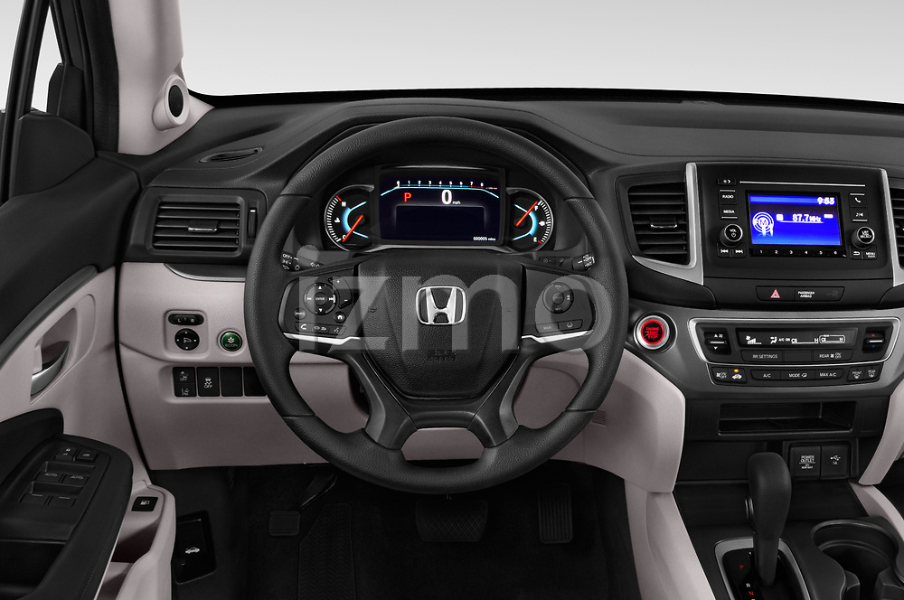 Car pictures of steering wheel view of a 2020 Honda Pilot LX 5 Door SUV