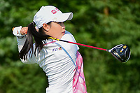 Moriya Jutanugarn (THA) watches her tee shot on 1 during Friday's round 2 of the 2017 KPMG Women's PGA Championship, at Olympia Fields Country Club, Olympia Fields, Illinois. 6/30/2017.<br /> Picture: Golffile | Ken Murray<br /> <br /> <br /> All photo usage must carry mandatory copyright credit (&copy; Golffile | Ken Murray)