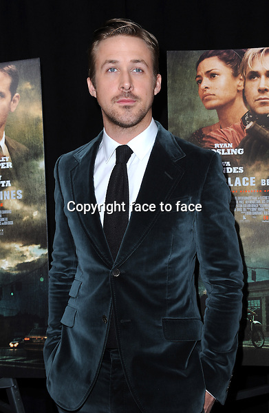 "Ryan Gosling attending the ""The Place Beyond the Pines"" New York Premiere at Landmark Sunshine Cinema on March 28, 2013 in New York City...Credit: MediaPunch/face to face..- Germany, Austria, Switzerland, Eastern Europe, Australia, UK, USA, Taiwan, Singapore, China, Malaysia and Thailand rights only -"