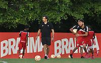 SÃO PAULO, SP, 29.04.2015 - TREINO - SÃO PAULO FC - Milton Cruz tecnico interino do São Paulo durante treino da equipe no Centro de Treinamento da Barra Funda região oeste de São Paulo, nesta quarta-feira, 29.  (Foto: Bruno Ulivieri/Brazil Photo Press/Folhapress)