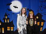 Rachel and Olivia Smith enjoying the Halloween fun in Scotch Hall. Photo:Colin Bell/pressphotos.ie