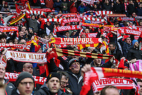 Liverpool fans during of the Capital One Cup match between Liverpool and Manchester City at Wembley Stadium, London, England on 28 February 2016. Photo by David Horn / PRiME Media Images.