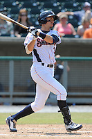 Tennessee Smokies Ryan Flaherty #3 swings at a pitch during a game against the Mobile BayBears at Smokies Park in Kodak,  Tennessee;  May 22, 2011.  The Smokies won the game 4-2.  Photo By Tony Farlow/Four Seam Images
