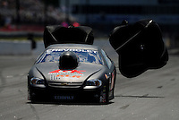 May 5, 2012; Commerce, GA, USA: NHRA pro stock driver Erica Enders during qualifying for the Southern Nationals at Atlanta Dragway. Mandatory Credit: Mark J. Rebilas-