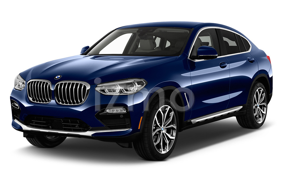 2020 BMW X4 xDrive30i 5 Door SUV angular front stock photos of front three quarter view