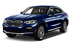 2019 BMW X4 xDrive30i 5 Door SUV angular front stock photos of front three quarter view