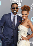 SANTA MONICA, CA - JANUARY 11: Actors Sterling K. Brown (L) and Ryan Michelle Bathe attend The 23rd Annual Critics' Choice Awards at Barker Hangar on January 11, 2018 in Santa Monica, California.