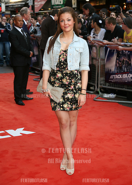 Megan Prescott attending the UK Premiere of Attack The Block at Vue Leicester Square, London. 04/05/2011  Picture by: Alexandra Glen / Featureflash