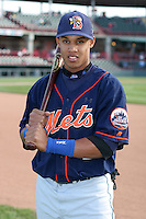 Binghamton Mets Carlos Gomez poses for a photo before an Eastern League game at Jerry Uht Park on April 29, 2006 in Erie, Pennsylvania.  (Mike Janes/Four Seam Images)
