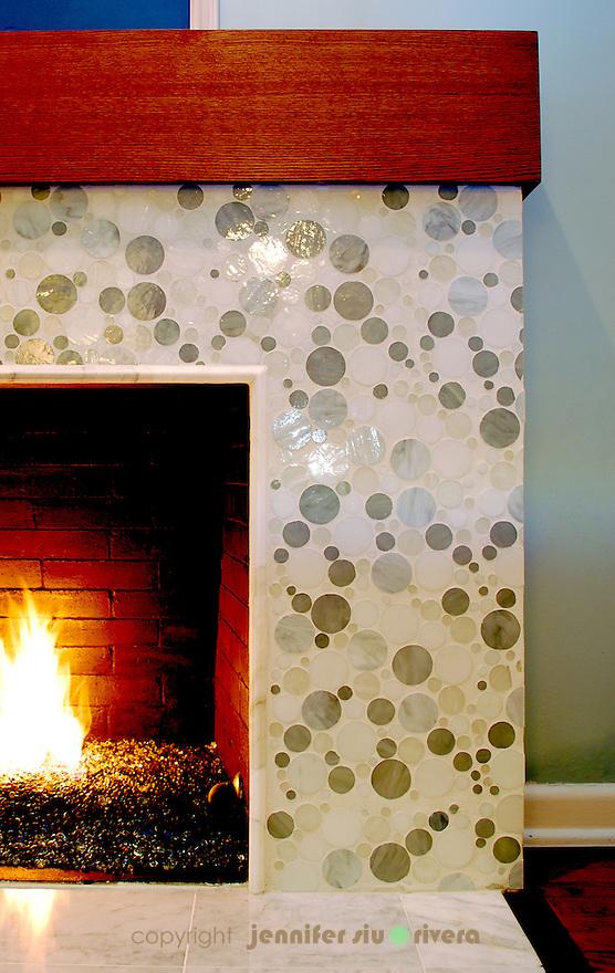Olmos Park residence fireplace