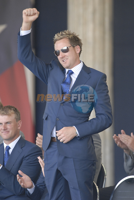European Team Player Ian Poulterl during the opening ceremony on Practice Day2 of the Ryder Cup at Valhalla Golf Club, Louisville, Kentucky, USA, 18th September 2008 (Photo by Eoin Clarke/GOLFFILE)
